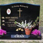 granite headstone - black